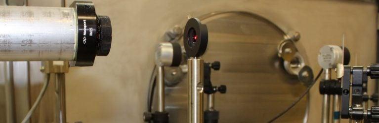 Optics setup fo dimensional stability testing.