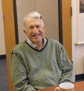 A picture of Dr. Earnest Wolff at his 84th birthday, August 2018.